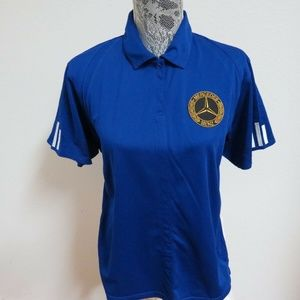Sz L Blue Adidas ClimaLITE Women db Poly #C16 Polo